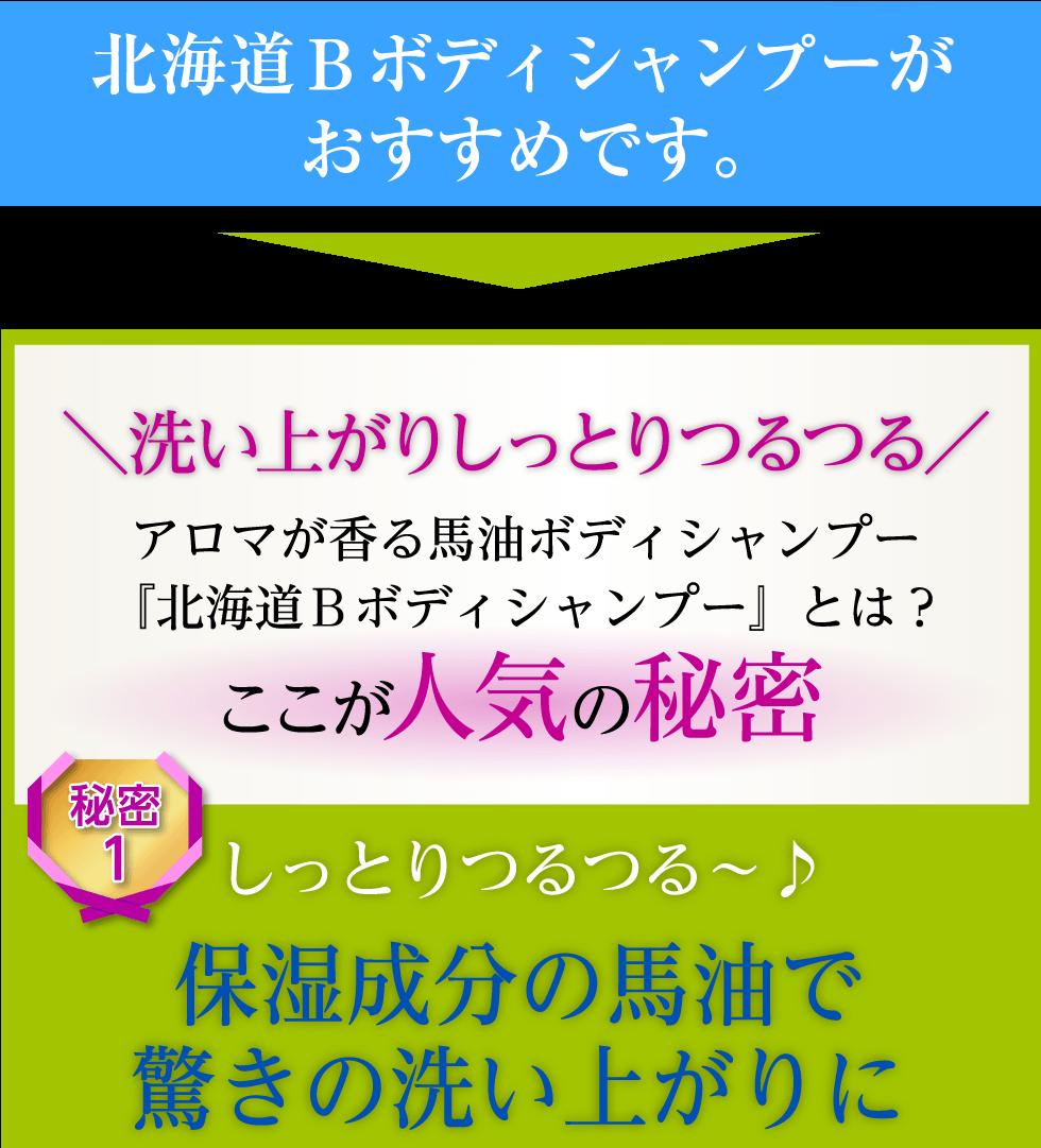 北海道 B ボディー シャンプー 詰め替え用 がおすすめです。